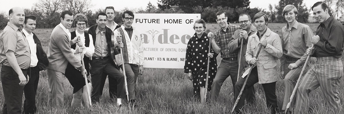Groundbreaking of A-dec in 1971