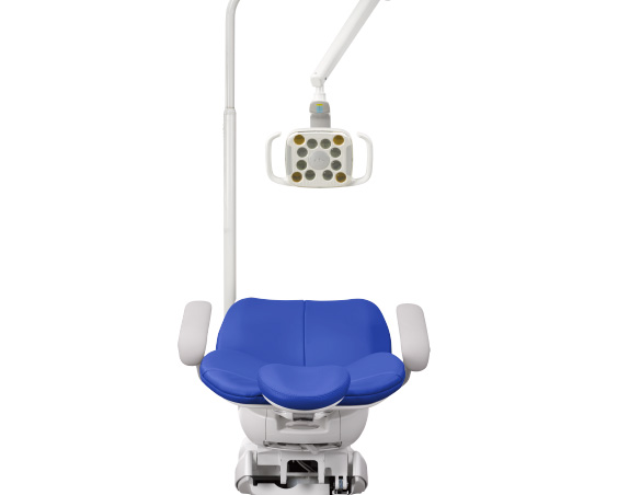 A-dec 300 dental chair with dental LED light