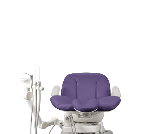 A-dec dental chair with assistants instrumentation