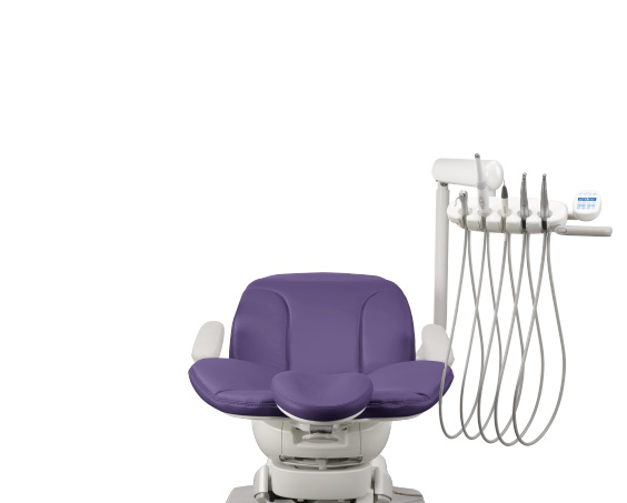 A-dec 400 dental chair with traditional dental delivery system