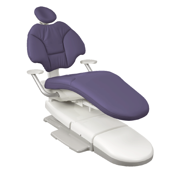 A-dec dental chair with plumb upholstry