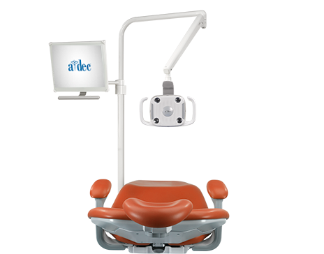 A-dec performer dental chair with monitor mount