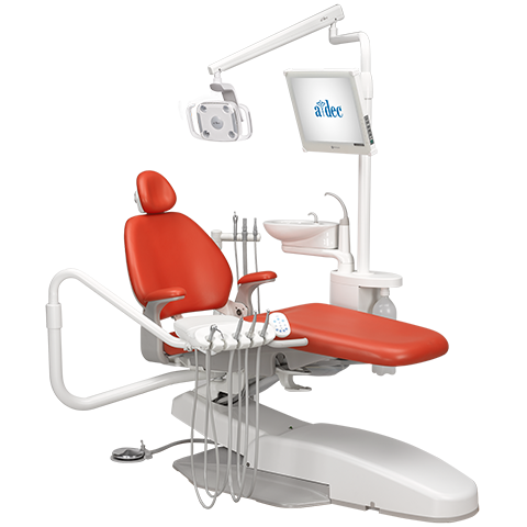 Performer dental chair with rear mount