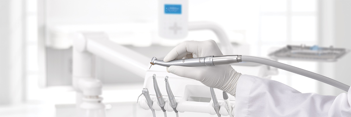 Advanced air dental handpiece in dental operatory