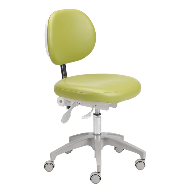 A-dec 400 dental stool with parrot upholstery