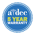 A-dec 5 year warranty logo