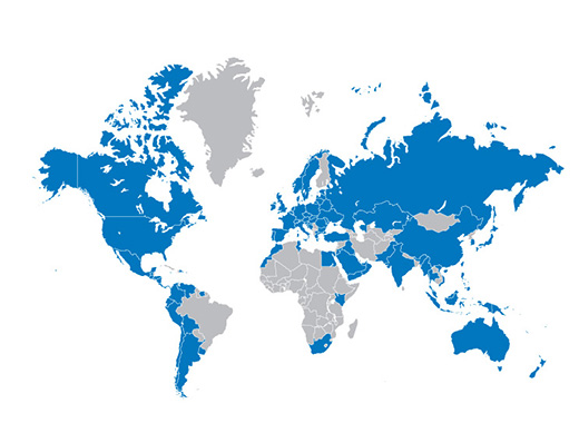 A-dec dental equipment presence around the world
